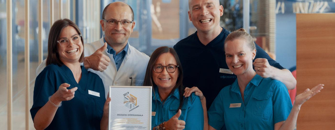 Suomen innostavimmat työpaikat Docrates Syöpäsairaala